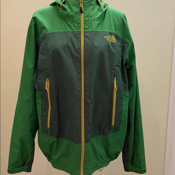 Men's Northface Hyvent Flashdry rain jacket hoody